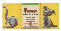 Vintage 1949 Topps Funny Foldees #63 Dinosaur, Dog, Sphinx