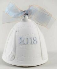 LladrÓ 2018 Annual Porcelain Bell Blue - No Ribbon - New