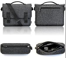 Black Felt Messenger Shoulder bag for MacBook Pro 13.3 / Microsoft Surface Pro 4