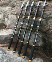 Carbon Fiber Travel Ultralight Telescopic Fishing Rod Portable Sea Spinning Pole