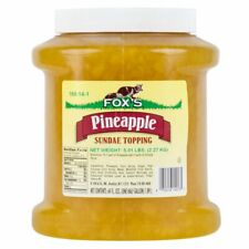 Fox's Pineapple Ice Cream Topping - 1/2 Gallon Jar