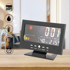 LCD Digital Alarm Wecker Tischuhr Funkwecker mit Temperaturanzeige Kalender