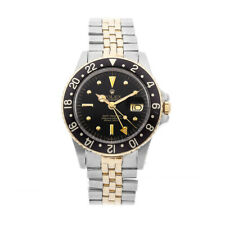 Rolex GMT Master Steel Yellow Gold Black Dial Auto Mens Watch Bracelet 16753