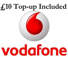 £10 Loaded Vodafone PAY AS YOU GO (3 in 1) Sim Card