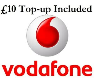 £10 Credit Included VODAFONE PAY AS YOU GO (3 in 1) Sim Card