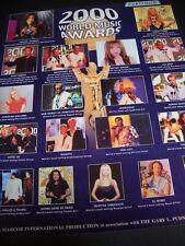 MUSIC AWARDS 2000 Promo Poster Ad MICHAEL JACKSON Britney Spears HIRAKU UTADA