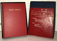 Vintage Holy Bible ~ RED OXFORD TEXT BIBLE ~ Hardcover, #02450x ~ Original Box