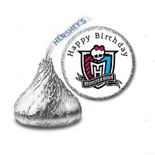 216 MONSTER HIGH HERSHEY'S KISS CANDY BIRTHDAY STICKER LABELS - Party Favors