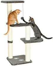 Cat Tree 15.5 in. W x 15.5 in. D x 46 in. H Platforms with Dangling Pom-Pom Toy
