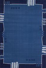 Tapis bleu avec des motifs Rayé pour la maison
