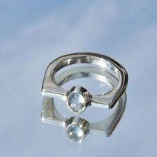 Ringe mit Edelsteinen für Damen (18,1 mm Ø) Aquamarin echten Innenvolumen