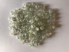 CRACKLE CRYSTAL GLASS BEADS, SOLD BY 100 LOOSE OR STRAND BEADS  8 MM CLEAR COLOR