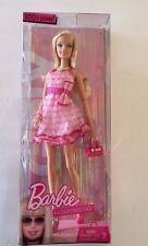 NWT NIB 2009 BARBIE Mattel FASHIONISTAS Pink Dress GIRLY Doll POSEABLE 100+