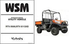 Kubota RTV-X900, RTV-X1120D UTV WSM Service Workshop Manual CD