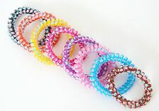 Chouchou Ressort x1 Elastique Spirale Fil Téléphone Mode - Papillon
