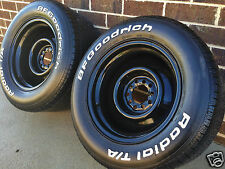 """15"""" 5"""" 6 7"""" 8"""" 9"""" 10"""" BLACK steel WHEELS RIMs FORD DUEL RALLY HQ CHEVY HOLDEN"""
