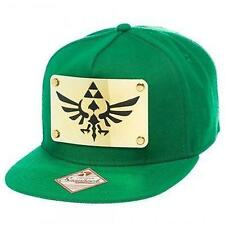 New Licensed Nintendo Legend of Zelda METAL Triforce Logo Snapback Hat SICK LID!
