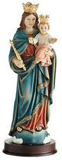 "8 1/2""H - Mary Help of Christians Statue - Our Lady Hand Painted Figurine"