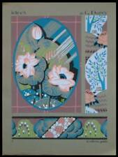 MOTIFS ART DECO - POCHOIR 1929 - GEORGES DARCY, IDEES 2, FLEURS