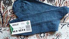 Herren Socke Strumpf Wolle Feinstrick SCHÄFER Luxus Jeans Blau Neu Gr. 43/45