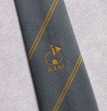 More details for vintage golf tie mens necktie retro sport golfing club grey gold