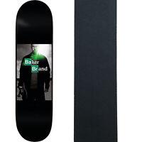 "Baker Skateboard Deck Reynolds ABQ 8.125"" x 31.5"" with Grip"