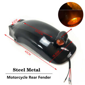 Motorcycle W/Lamp Rear Fender Mudguard Taillight Fenders Fit For Honda Yamaha