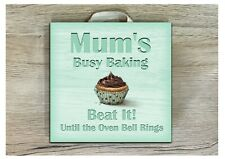 CUPCAKE BUSY BAKING Kitchen Door SIGN Custom Made Personalised Room Wall Plaque