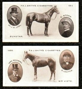 2 X 1913 SMITHS DERBY WINNERS CIGARETTE CARDS EXC+++ HORSE RACING No,s 33 & 49