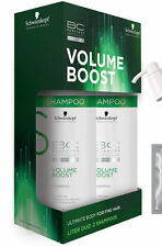 Schwarzkopf Bonacure Volume Boost Shampoo Fine Hair Liter 2 PACK - 33.8 ea