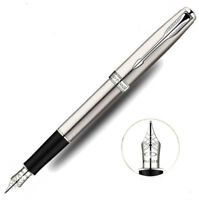 Good Parker Sonnet Series Steel Color Silver Clip 0.5mm Fine Nib Fountain Pen