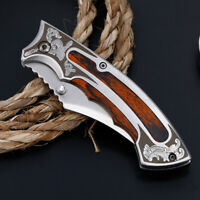 "7.5"" Pocket Folding Tactical Military Survival Outdoor Hunting Blade Open Knife"