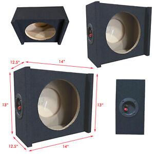"2x Shallow Single 10"" Sealed Truck Subwoofer Enclosure 5/8"" MDF Sub Boxe"