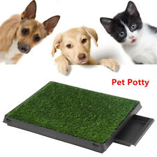 Puppy Pet Potty Training Pee Indoor Toilet Dog Grass Pad Mat Large Turf w/ Tray