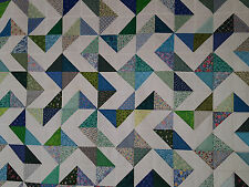 Unfinished Quilt Top- Flyfoot, Assorted Blues, approx 64 x 80