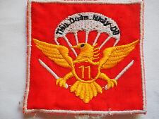 """Vietnam War Beret Patch ARVN 11th PARACHUTE Battalion """"TIEU DOAN 11 NHAY DU"""""""