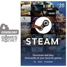 20€ EUR Steam Guthaben Code Game Card 20 € | PC MAC LINUX