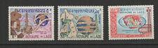 Royaume du Laos 3 timbres non oblitérés 1965 Télécommunications /T2727