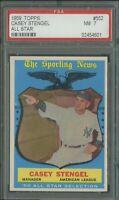 1959 Topps #552 Casey Stengel PSA 7 New York Yankees SP Short Print High # AS
