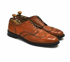 Alden Wing Tip Blucher 10.5 10 1/2 Cognac 966 Oxford Burnished Tan Aberdeen EX