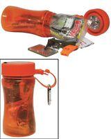 Mil-Tec Outdoor Survival Box Orange Überlebensset Survivalset Box Schachtel