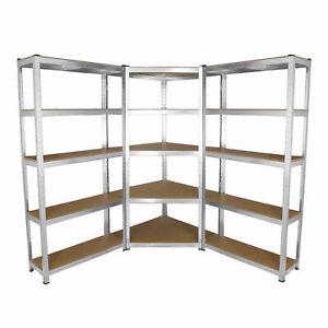 Scaffale 5 Ripiani Mensola Metallo Zincato Garage Cucina Carichi Pesanti 875 kg
