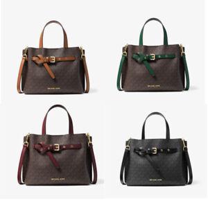 MICHAEL KORS Emilia Small Logo MK Signature Satchel Crossbody Bag