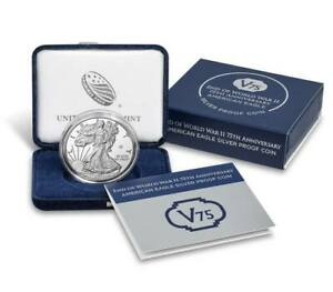 IN STOCK! 2020 W PROOF SILVER EAGLE WORLD WAR II V75 PRIVY IN OGP 75,000 MINTED