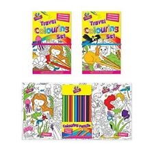 Children Travel Colouring Book Set with 12 Colouring Pencils - Princess