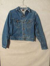 V7166 Lee Denim Metal Button Up USA Made Jacket Kids' Size 20