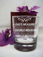 PERSONALISED ENGRAVED WHISKEY/ SPIRIT GLASS SINGLE/DOUBLE MEASURE/DRINK BIRTHDAY