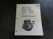 New Holland D1102-B D1302-B D1402-B V1502-B V-1702-B Kubota Operators Manual '87