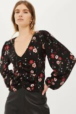 TopShop - Tall Floral Bloom Blouson Blouse - Size 4 - BNWT