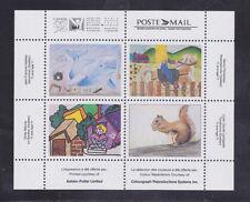 Canada Stamps - Cinderellas - Canada 92 Ashton-Potter Souv.Sht/4 - Kids Drawings